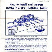 Image of How to Install and Operate Lionel No. 350 Transfer Table - How to Install and Operate Lionel No. 350 Transfer Table.