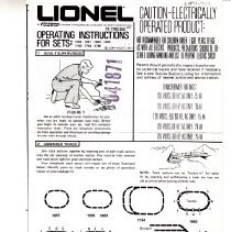 Image of Lionel Operating Instructions for Sets - Lionel Operating Instructions for Sets: 1586, 1661, 1662, 1663, 1762, 1764, 1765