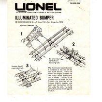 Image of Lionel Illuminated Bumper - Lionel Illuminated Bumper.  70-2290-250.