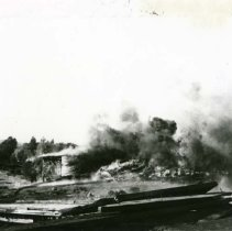 Image of P28998 - A fire scene of unknown location in Tuolumne County.  