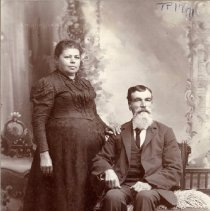 Image of TP1771 - Portrait-Man and Woman not identified. Album #1.  Circa 1890's.