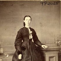 Image of TP2025 - Portrait-Woman. In a black dress. Not identified. Circa 1870,s