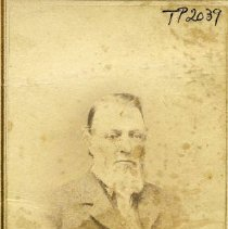 Image of TP2039 - Portrait-Elderly Man. Nice suit with a vest and a long tie. Has a white full beard.