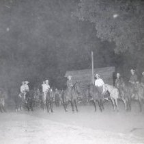Image of TP2139 - Group-men on horseback , not identified. Tuolumne Gold Centennial Celebration. 1849-50---1949-50.