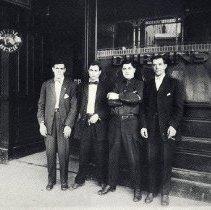 Image of TP3578 - Group- Durkin's Saloon 1. ____, 2. Joe Federigia, 3. Mike Lavrigge, 4. ____