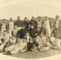 Image of TP362 - Carter's Football Team beat Oakdale Team 11 to 5. Christmas 1900.  Unidentified members.