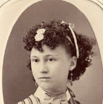 Image of TP3877 - A Black and white portrait of an unidentified lady. Album /311 Sewell Collection.