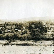 Image of TP4039 - Landscape: Looking toward Columbia from south east.  Scene shows several homes , the 49er Church, and St. Anne's in the distance.