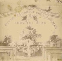 Image of TP432 - Interior - Methodist Church, Columbia, California  - Easter 1899.