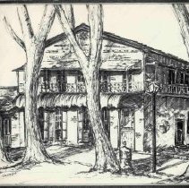 Image of TP438 - City Hotel, Columbia Sketch by Betty Carney 1972  - very well done too.
