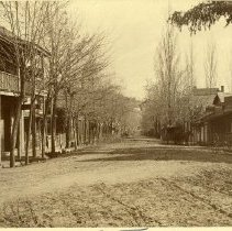 Image of TP6165 - Washington Street, Sonora, taken at the St. James Episcopal Church looking south.  The Wm. Rother home on the left. c.1890