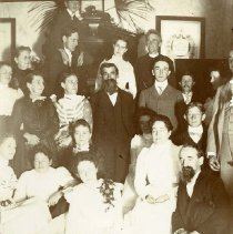 Image of P31855 - C.H.Burden in lower left of photo is seen at a ??gathering??