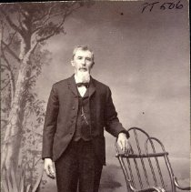 Image of TP506 - PORTRAIT - JOHN ROLLERI IMMIGRATED TO THE COUNTY IN THE 1850'S. HE OWNED THE HILLSIDE KNOWN AS THE OLIVER ADDITION, WHICH EXTENDS IN BACK OF THE MUSEUM AND ENCOMPASSES PROPERTY NOW OCCUPIED BY THE DMV AND IS BOUNDED BY THE OLD CITY CEMETERY.  Circa early 1900's.