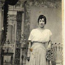 Image of TP592 - PORTRAIT OF ANGELINE GOOKIN, DATED 07-07-1917.