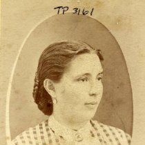 Image of TP3161 - Elisabeth Estein born 1842 in Alfenmuehle, Hesse-Cassel, Germany.  Circa 1880's.  Album #2. Mother of John VanHarlingen