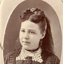 Image of TP3856 - A Black and white portrait of Martha Fisher. Circa 1870's. Album #11 Sewell Collection.