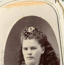 Image of TP3858 - A Black and white portrait of Maggie Sexton. Circa 4870's. Album #11 Sewell Collection.