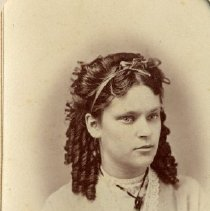 Image of TP3860 - A Black and white portrait of Carrie Whitney of Jamestown. Circa 1870's. Album #11 Sewell Collection.