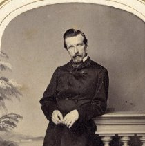 Image of TP3866 - A Black and white portrait of Frank York a Sonora teacher. c. 1870's. Album #11 Sewell Collection.