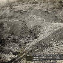 Image of TP4297 - Landscape-Hetch Hetchy Railroad Grade below Rattlesnake Creek: view Westerly. Feb. 28, 1917.