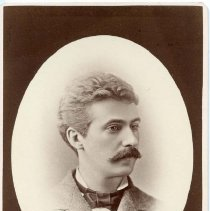 """Image of TP10334 - A 6.5"""" x 4-1/4"""" Black and white portrait of Charles Sears, circa 1890's.."""
