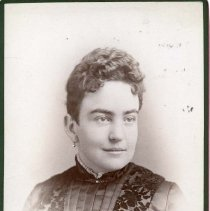 "Image of TP10348 - A 6.5"" x 4-1/4""  Black and white portrait of Mrs. F.P.Otis, wife of F.P.Otis."
