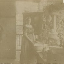 Image of TP3171 - Mrs. Spiro Radovich in her Saloon and Boarding House, Jamestown 1905