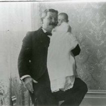 Image of TP12323 - M.D. NEWMAN HOLDING BABY DAUGHTER FANNIE NEWMAN.