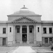 Image of SPV10179 - Original Sonora High School building, circa 1910s.  The building faced Washington Street (Shaws Flat Road).   Donor:  Leonard Ruoff
