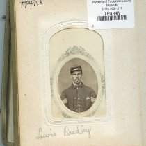 Image of TP4948 - LEWIS F DUDLEY.  He is wearing a soldiers uniform. Dudley Lewis F Hosea Dudley Walter Mclean