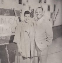 Image of Opening Day 54th St JCC, 1958, Pearl Slayen & Al Hutler