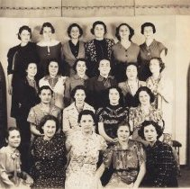 Image of 1937, Pearl Lehrer front row, 2nd from right, Gert Shelley, 3rd row left