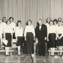 Image of JCC Choral Group Jewish Music Month April, 1965 - Cantor Goldberg, center