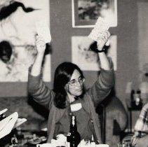 Image of First Women's Seder, 1979- ctr Jane Zanes, rt. Irene Fine