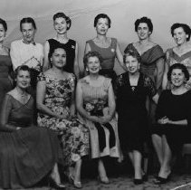 Image of Women's Assoc. of Allied Beverage Industries 1950's, Gert Thaler, front rt.