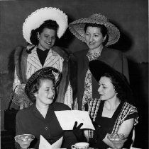 Image of from top left: Mrs. Greenberg, Mrs. Bickman, Mrs. Wyner, Mrs. Haffner 1947