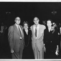 Image of KFSD Party Sally & Mort Cohn center, 1954