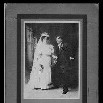 Image of Adolph & Edith Naiman, 12-16-1906 Wedding Day, Denver Co.