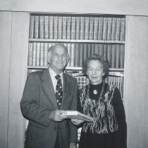 Image of Tribute to Ida Nasatir (with Al Hutler) at the Astor Judaica Library 1976?