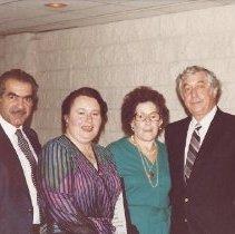 Image of l-r, Al  & Ethel  Adatto, Dorothy & Bernard Arenson, circa 1987