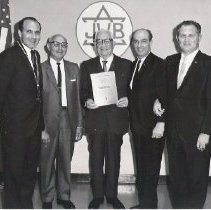 Image of B'nai B'rith Weinberger - Breitbard Lodge - Photo and Scrapbook Album - Dr. Seymour Okmin Collection