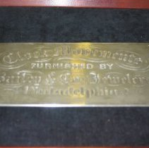 Image of 2005.2.84 - Nameplate