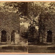 Image of Stereograph depicting the Old Stone Mill.