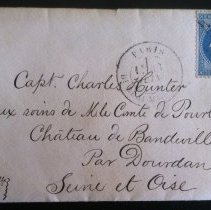 Image of Envelope addressed to Capt. Charles Hunter