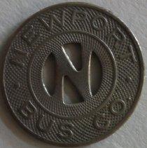 Image of Newport Bus Company token.