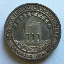 Image of Newport Horticulture Society silver medal, front