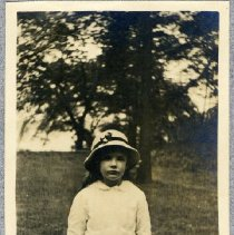 """Image of An unidentified girl (""""Baby""""); found in a Rhinelander family scrapbook."""