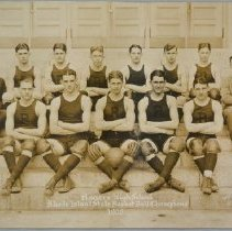 "Image of Rogers High School basketball team (""State Basketball Champions""), 1925."