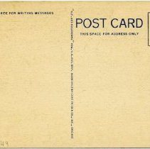 Image of Reverse of postcard.