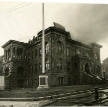 Image of Newport City Hall after fire, March 24, 1924.